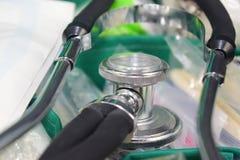 Medische apparatuur - Stethoscoop Stock Foto's