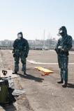 Medische apparatuur voor ebola of viruspandemic royalty-vrije stock afbeeldingen