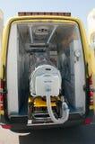Medische apparatuur voor ebola of viruspandemic Stock Foto's
