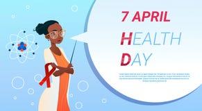 Medische Arts World Health Day 7 April Global Holiday Concept royalty-vrije illustratie