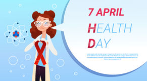 Medische Arts World Health Day 7 April Global Holiday Concept Stock Foto's