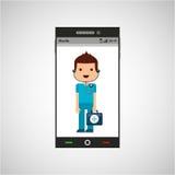 Medische artsen mobiele telefoon app vector illustratie