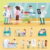 Medische behandelingsamenstelling stock illustratie