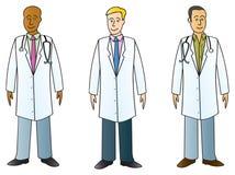 Medische Beroeps in Labcoats Stock Foto