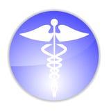 Medische caduceus charme stock illustratie