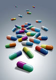 Medische capsules Stock Foto's