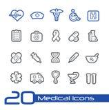 Medische de Lijnreeks van Pictogrammen// Stock Fotografie