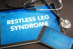 Medische diagnose de rusteloze van het beensyndroom (neurologische wanorde) stock foto