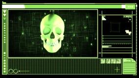 Medische digitale interface die schedel tonen royalty-vrije illustratie