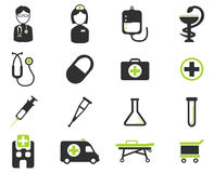 Medische eenvoudig pictogrammen Stock Foto's