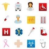 Medische en gezondheidszorgpictogrammen Royalty-vrije Stock Foto