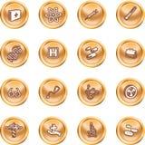 Medische en wetenschappelijke pictogrammen. Royalty-vrije Stock Afbeelding