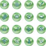Medische en wetenschappelijke pictogrammen. Stock Afbeelding