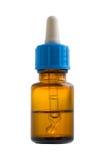 Medische fles en droppper met het knippen van weg Stock Fotografie
