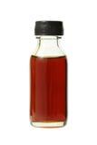 Medische fles met bruine vloeistof Stock Foto's