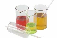 Medische fles met vloeistof royalty-vrije stock fotografie