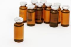 Medische flesjes stock foto's
