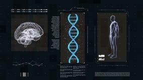 Medische futuristische interface royalty-vrije illustratie