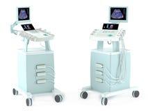 Medische geïsoleerde Ultrasone klank kenmerkende machine Stock Foto's