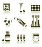 Medische geplaatste pictogrammen vector illustratie