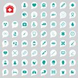 Medische geplaatste pictogrammen Stock Fotografie