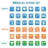 Medische geplaatste pictogrammen (01) royalty-vrije illustratie