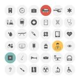 Medische geplaatste pictogrammen Stock Afbeeldingen