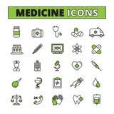 Medische geplaatste pictogrammen Royalty-vrije Stock Fotografie
