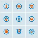 Medische geplaatste pictogrammen Royalty-vrije Stock Afbeeldingen