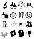 Medische Geplaatste wetenschapspictogrammen vector illustratie