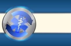 Medische gezondheids blauwe bedrijfsachtergrond Stock Foto's