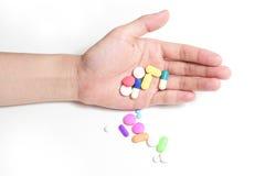 Medische in hand van de apotheekgeneeskunde Royalty-vrije Stock Fotografie
