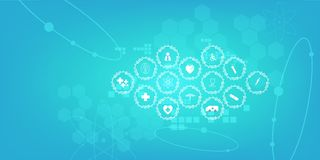 Medische het conceptenachtergrond van de technologieinnovatie stock illustratie