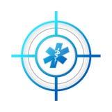 medische het conceptenillustratie van het doelteken Royalty-vrije Stock Afbeelding