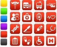 Medische het ziekenhuisInternet pictograminzameling Stock Fotografie