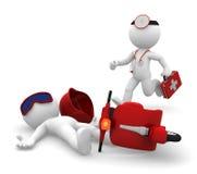 Medische hulp bij noodgevallen. Geïsoleerdl Stock Foto