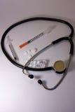 Medische hulpmiddelen, tabletten Stock Afbeelding