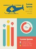 Medische infographic elementen royalty-vrije illustratie