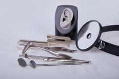 Medische instrumenten voor ENT arts stock foto