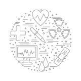 Medische kenmerkend, concept van het controle het grafische ontwerp royalty-vrije illustratie
