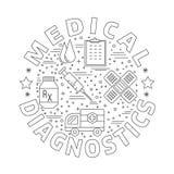 Medische kenmerkend, concept van het controle het grafische ontwerp stock illustratie