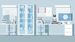 Medische Laboratoriumillustratie royalty-vrije illustratie