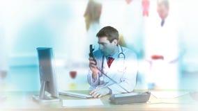 Medische Lengtecollage stock video