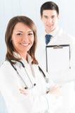 Medische mensen op kantoor Royalty-vrije Stock Afbeeldingen