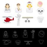 Medische Noodsituatiepictogrammen Stock Fotografie