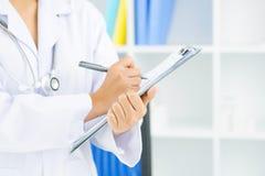 Medische nota's Stock Foto's