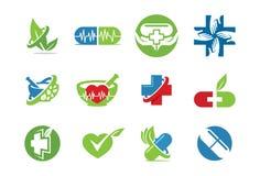 Medische pictogram of embleemreeks Stock Afbeeldingen