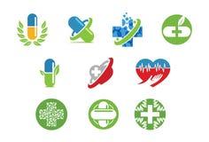 Medische pictogram of embleemreeks Stock Fotografie
