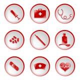 Medische pictogrammen Royalty-vrije Stock Afbeeldingen