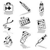 Medische pictogrammen Royalty-vrije Stock Fotografie